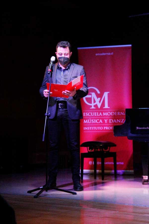 Director del Área de Composición, Óscar Carmona