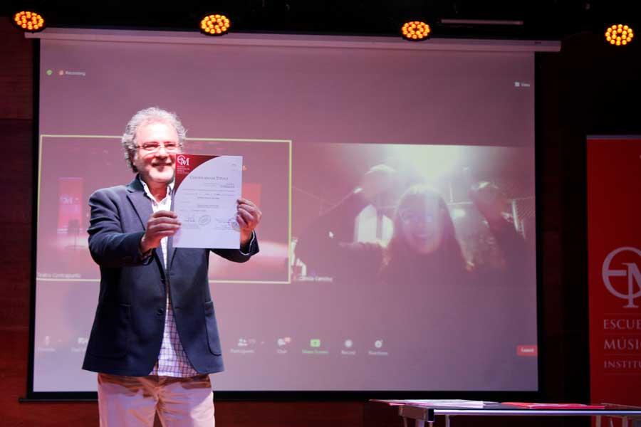 Director del Área de Producción, Maestro Raúl Aliaga